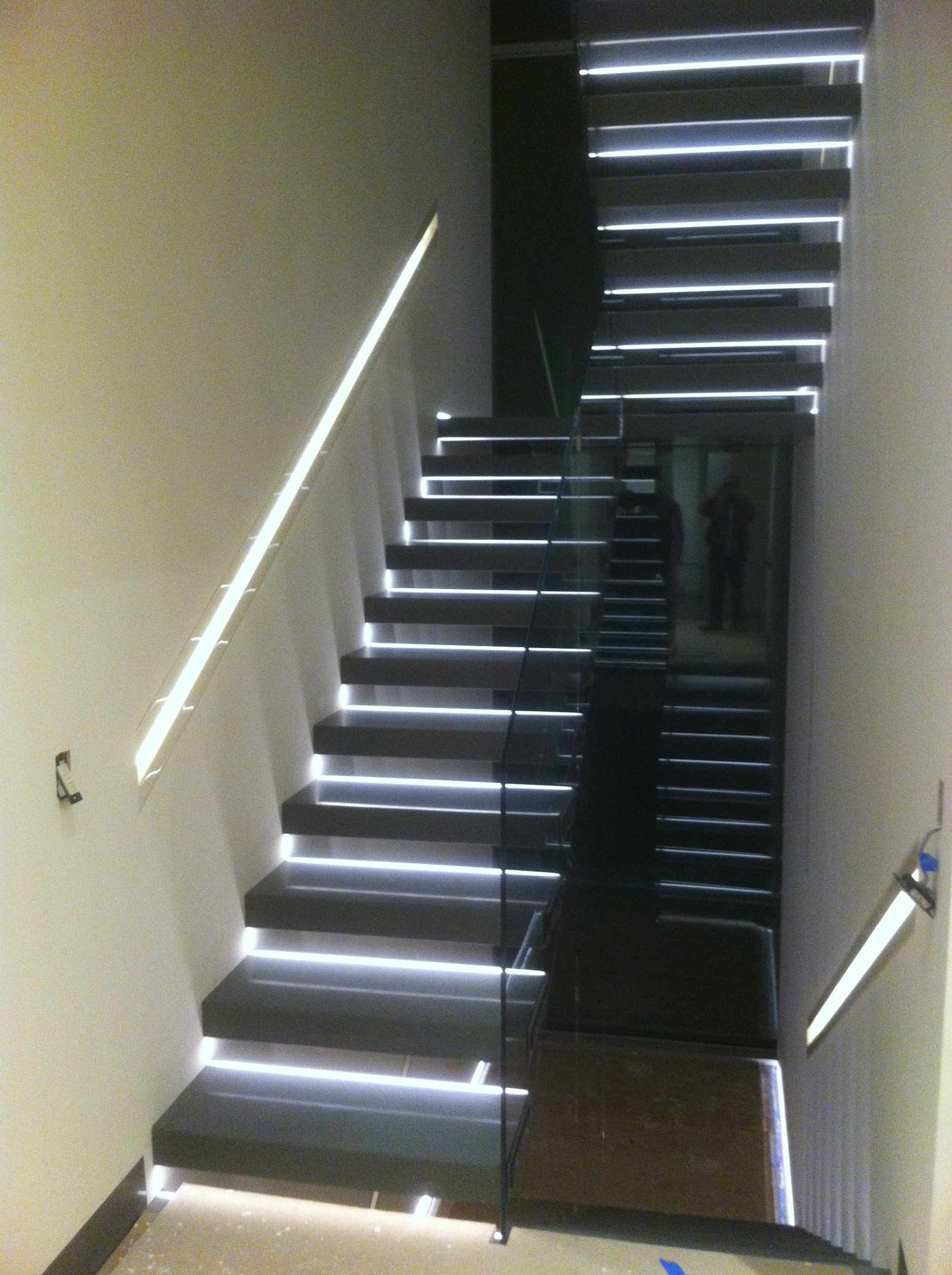 Modern Stairwell Lighting. Nj Electrician Unique Lighting Stairs